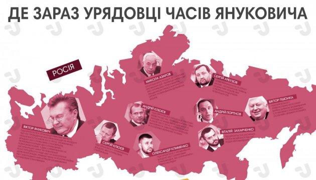 Де зараз урядовці часів Януковича? Інфографіка