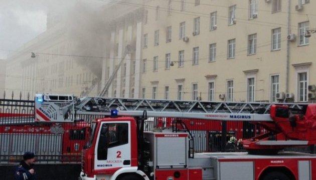 У Міноборони РФ досі борються з пожежою. Прибув Шойгу