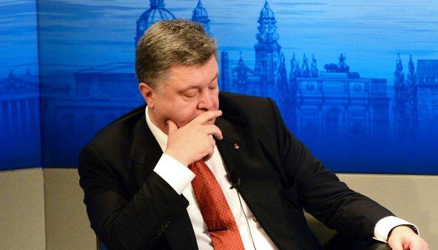 Poroshenko admits he follows U.S. presidential race