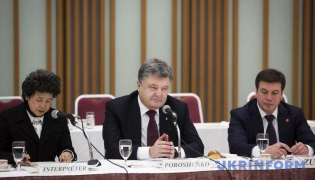Порошенко: Японія знає, як бути сусідом Росії