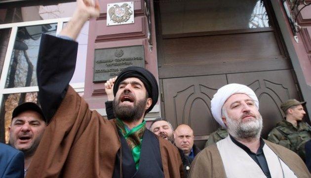 Азербайджанські активісти пікетували посольство Вірменії