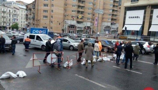 У Києві протестувальники перекрили вулицю Басейну