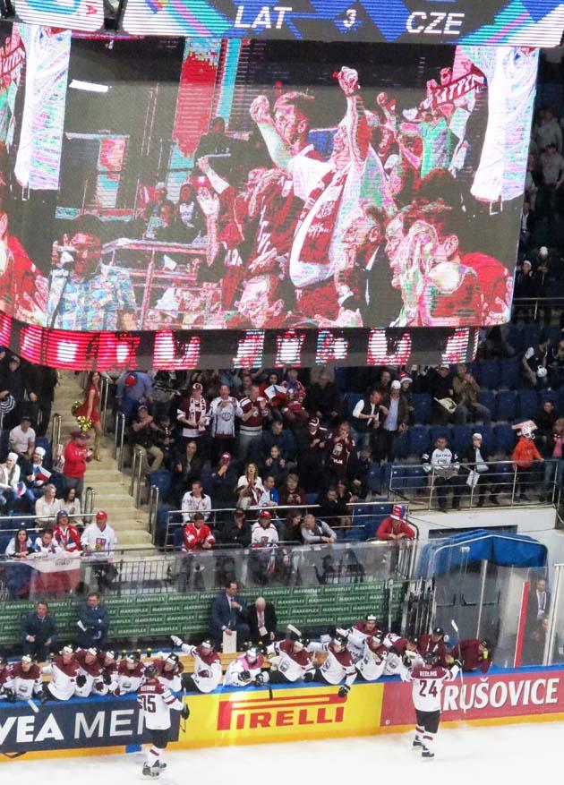 Латвія радіє: програючи грізним чехам 0:2, вона змогла вийти вперед 3:2