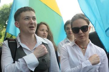 Schwestern Sawtschenko gehen in Rada von Donbass