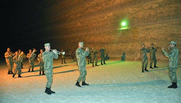 Військовий духовий оркестр встановив рекорд у соляній шахті Бахмуту