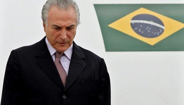 Президент Бразилії скасував візит на саміт G20 на тлі корупційного скандалу