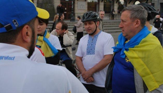 Як у Варшаві зустрічали учасників велопробігу
