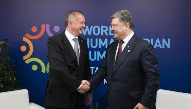 President Poroshenko, President Kiska held meeting in Istanbul
