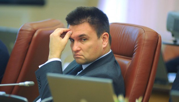 Klimkin urges the United States to continue providing military and technical aid to Ukraine