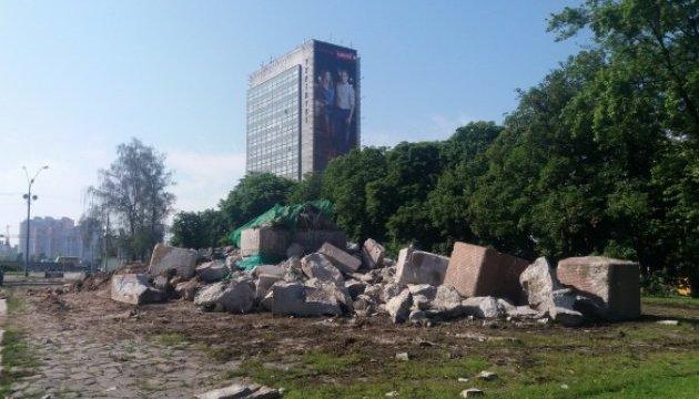 У Києві остаточно демонтували пам'ятник чекістам