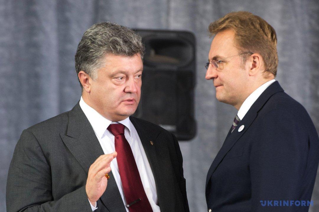 Петро Порошенко і Андрій Садовий