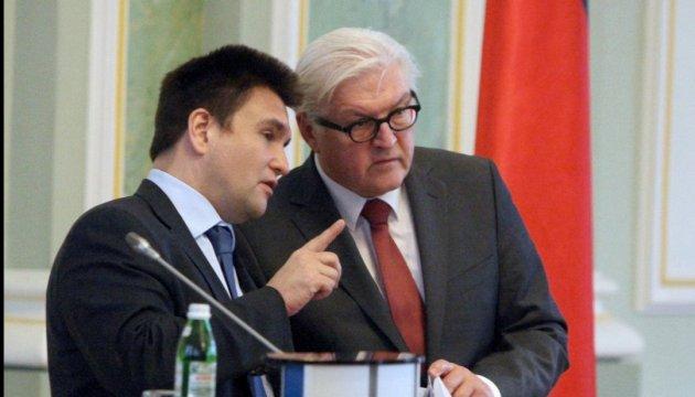 Klimkin, Steinmeier discuss Minsk agreements and ceasefire in Donbas