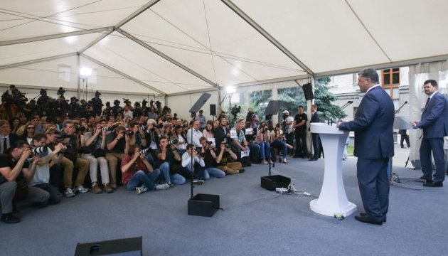 Порошенко сказав, чим важлива свобода слова