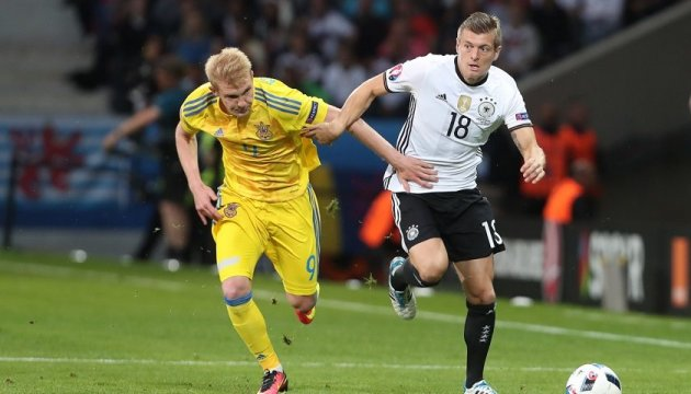 Germany beat Ukraine 2 : 0 in France at Euro 2016