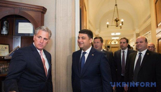 Гройсман встретился с лидером большинства в Палате представителей Конгресса США