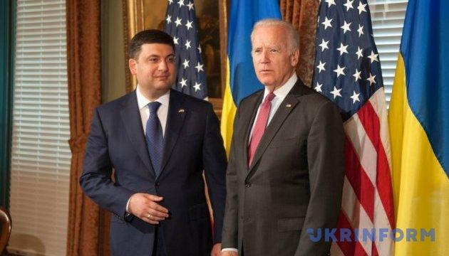 Гройсман і Байден зустрінуться в понеділок у Києві