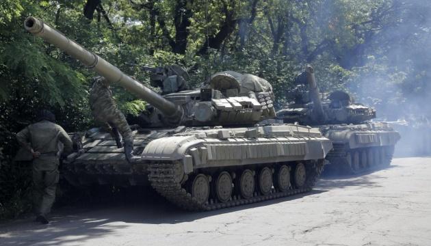 Les mercenaires russes cachent de l'armement lourd dans les bois