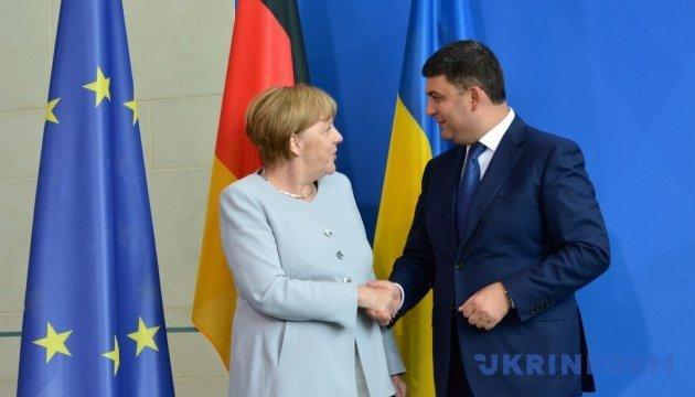 Гройсман в Кабмине встретится с Меркель