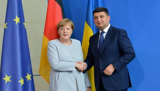 Hrojsman und Merkel treffen sich am Donnerstag