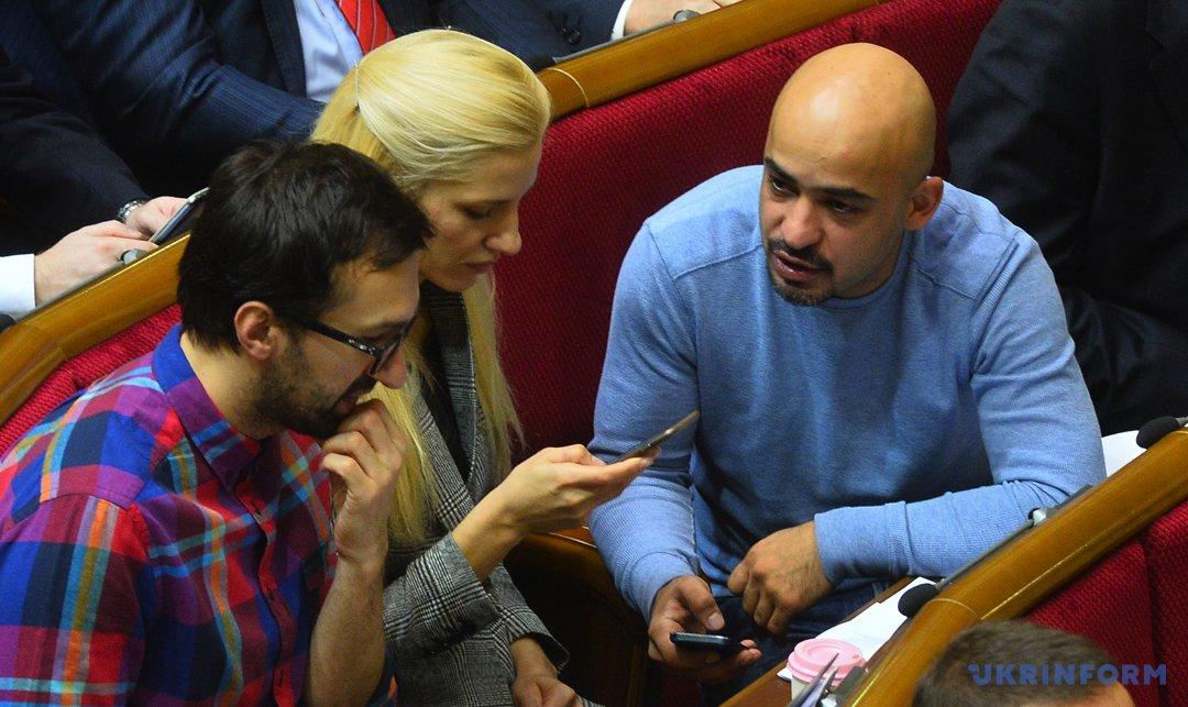 Сергей Лещенко, Светлана Залищук и Мустафа Найем