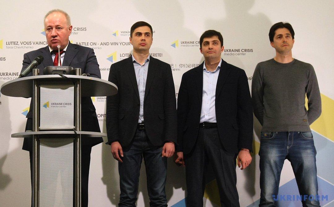Виктор Чумак, Егор Фирсов, Давид Сакварелидзе и Виталий Касько