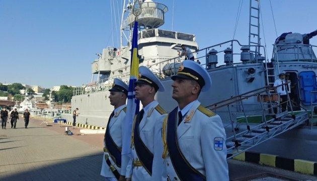 Військові моряки долучилися до флешмобу на підтримку Сенцова