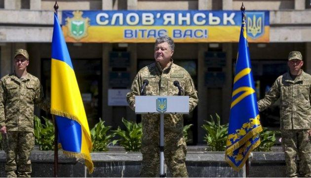 Poroschenko: Beim Wiederaufbau von Donbass helfen internationale Partner
