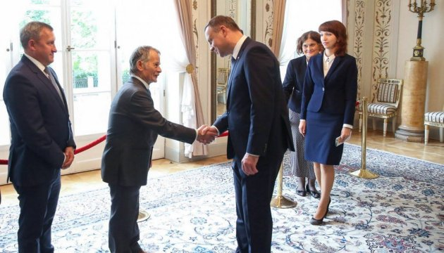 Duda, Dzhemilev discuss de-occupation of Crimea