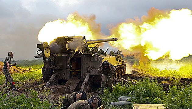 Militants launch 56 attacks on Ukrainian troops in Donbas