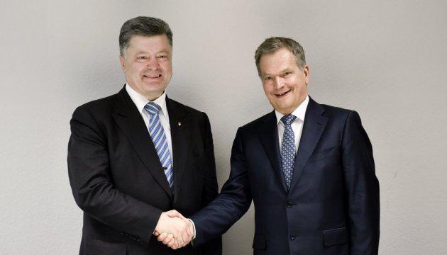 Poroshenko expresses gratitude to President of Finland for support of Ukraine's territorial integrity