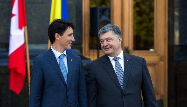 Poroshenko coordina posturas con Trudeau en la víspera de las cumbres de la OTAN y el G7
