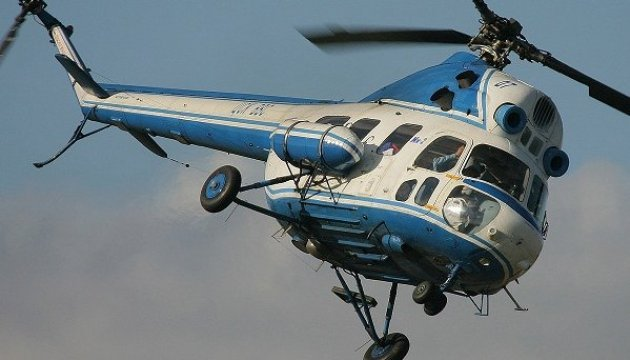 MI-2 helicopter crashes in Sumy region