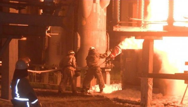 У Харкові горіла електростанція