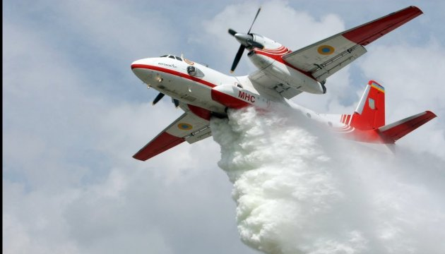 Two Ukrainian An-32P help Israel in extinguishing fires