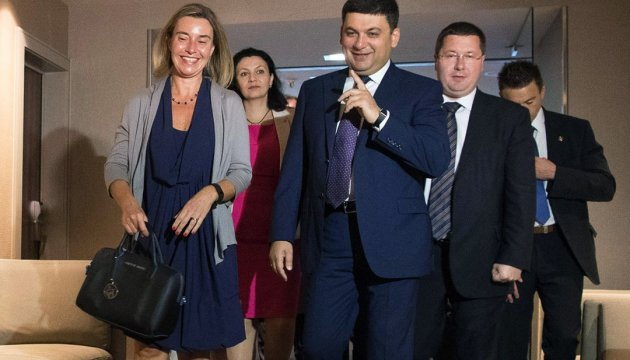 PM Groysman, Federica Mogherini agree to hold EU-Ukraine Association Council meeting