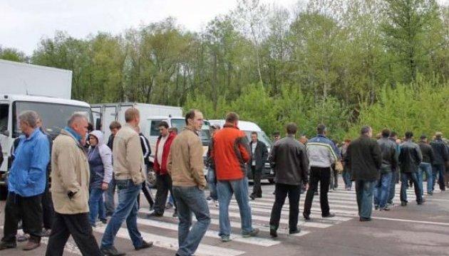 Протест шахтарів: автівки на львівській трасі пустили в об'їзд