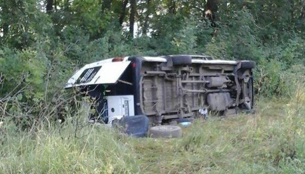 На Хмельниччині перекинувся автобус із прочанами, є постраждалі