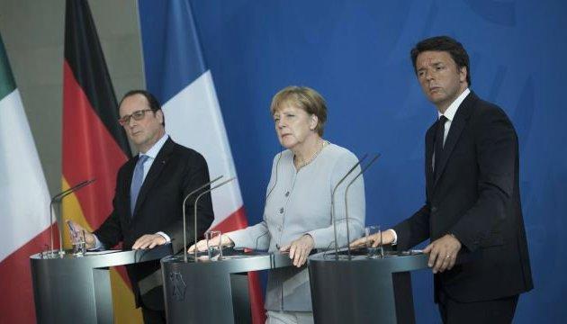 Лидеры Франции, Германии и Италии соберутся из-за Brexit
