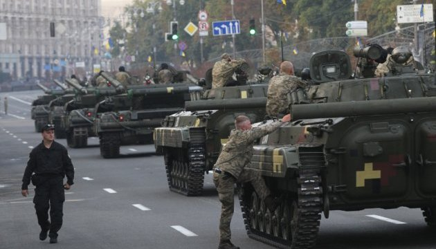 Репетиція параду: Хрещатиком пройшла військова техніка