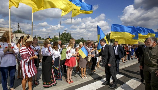 President takes part in opening of reconstructed kindergarten in Mariupol