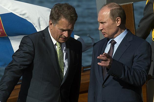Саули Нийнистё и Влодимир Путин / Фото: РИА Новости