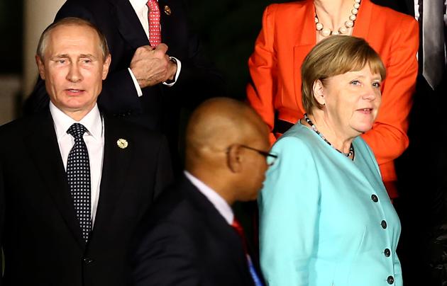 Володимир Путін, Ангела Меркель