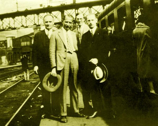 Зліва направо: Григорій Каленик-Лисюк, Євген Коновалець, Іван Рудаків, Микола Сціборський. Париж, 1929 рік