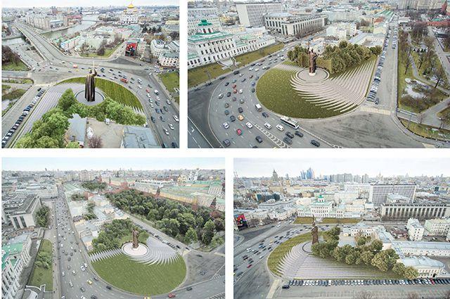 Проект пам'ятника князю Володимиру на Боровицькій площі (РФ, Москва)