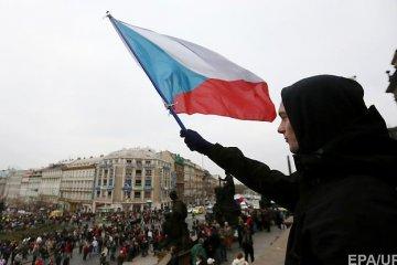 Aktion zur Unterstützung der Ukraine in Karlovy Vary