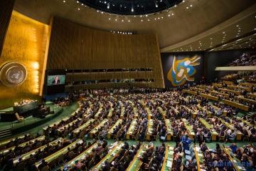 Präsident Selenskyj nimmt an Generealversammlung der UNO in New York teil