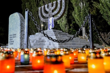 Olena Zelenska le cuenta a Sara Netanyahu su idea de rodar una película sobre Babi Yar (Foto)