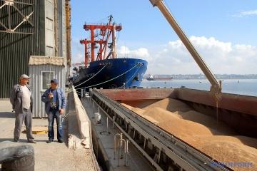 Ukraina wyeksportowała już ponad 9 mln ton zboża z tegorocznych zbiorów