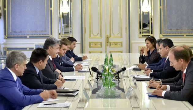 President of Ukraine, Vice President of European Commission coordinate positions on joint actions aimed at ensuring energy security of Ukraine and EU