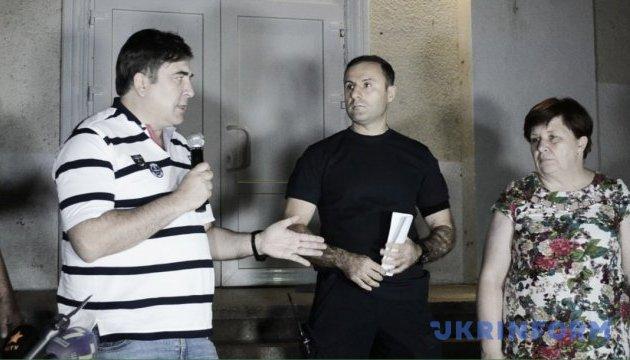 Саакашвілі провів нічний сход у Лощинівці